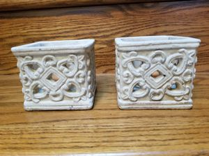 """PartyLite Garden Collection Sanctuary Votive Holder P91297 set of 2- 4""""sq, 3 1/2""""h for Sale in Federal Way, WA"""