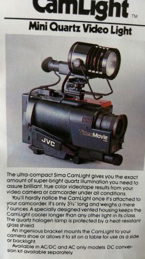 Sima brand movie camera light for Sale in Endicott, NY