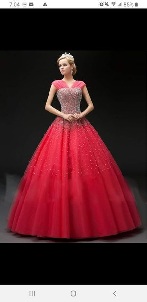 Floor-Length Sequins Lace-Up Ball Gown Quinceanera Dress for Sale in Vancouver, WA