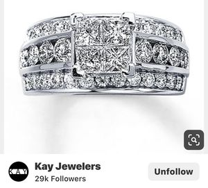 Beautiful wedding ring14k 2 5/8 tw for Sale in Arvada, CO