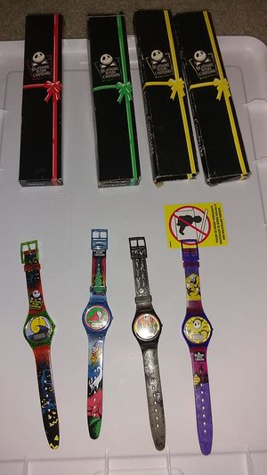 Nightmare Before Christmas Watches Set of 4 for Sale in Costa Mesa, CA
