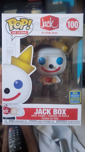 Jack in the box funko sddc pop for Sale in Los Angeles, CA