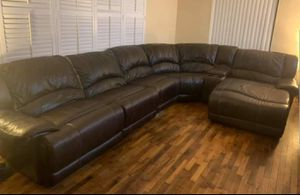 Brown Leather Sectional for Sale in HALNDLE BCH, FL