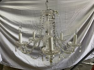 "4 Arms Crystal Glass Light Chandelier 20"" H x 20"" W Venetian Style for Sale in Anaheim, CA"