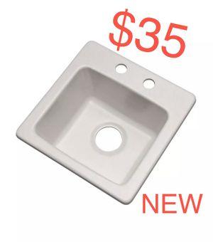 "Mont Blanc Westminster Dual Mount Granite Composite 16"" Bar Sink, Soft White for Sale in Glendale, AZ"