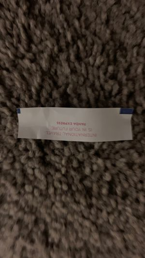 International travel the world is in your future -Panda Express fortune cookie for Sale in Midland, TX