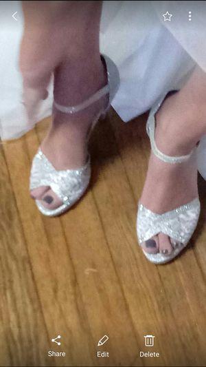 Bridal heels size 8 for Sale in Reynoldsburg, OH