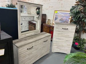 12 WEEKS or 12 MONTHS to PAY~ Aspen Dresser with Mirror and Tallboy Chest for Sale in Hammond, IN