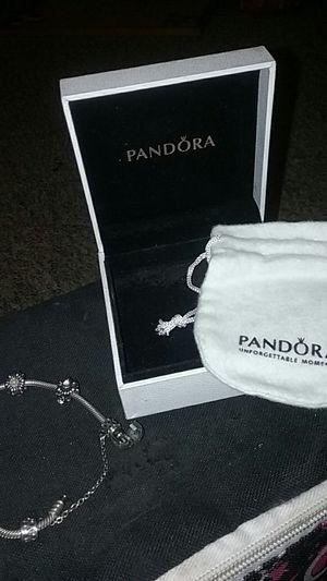 Pandora sterling silver charm bracelet for Sale in Emmet, ND