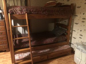 Bunk beds with 2 trundles for Sale in Chatsworth, GA