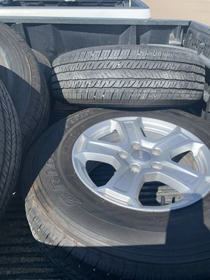Jeep Wrangler wheels and tires 245/75r17 for Sale in San Diego, CA
