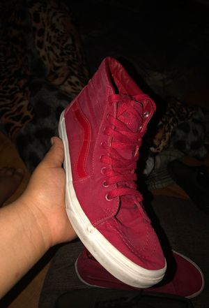 Red and white high top vans for Sale in Denver, CO