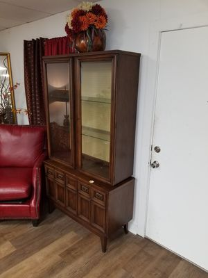 China cabinet 2-piece with drawer vintage wooden for Sale in North Little Rock, AR