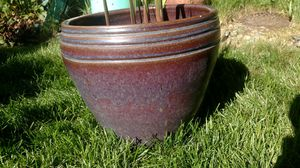 Beautiful ceramic pot with gladiolus. for Sale in Puyallup, WA