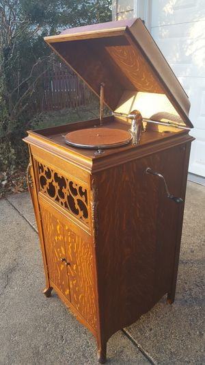 Large 1920 Antique Cecilian Phonograph Victrola Record Player for Sale in Fairfax, VA