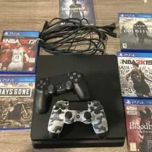 Sony PlayStation 4 PS4 slim 500gb With Two Controllers And 6 Game Bundle Excellent for Sale in Chicago, IL