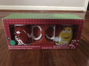 M&M MUG COFFEE VINTAGE RED YELLOW CERAMIC CANDY MUGS CUPS CUP GLASS COLLECTION COLLECTIBLE CHARACTER TOY M AND M GIFT FOR BOY GIRL FUNNY 2 for Sale in Houston, TX