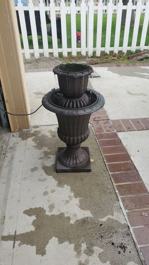 28 in. High outdoor water fountain for Sale in Anaheim, CA