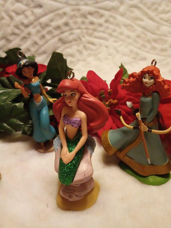 DISNEY Christmas Ornament Set- Princesses-6pc
