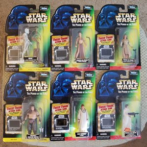 6 - Star Wars - The Power of The Force - Green Card w/Freeze Frame - 3 3/4 Action Figure Collection for Sale in Oakdale, CA