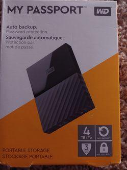 Portable Storage My Passport 4TB Western Digital for Sale in Cedar Mill,  OR