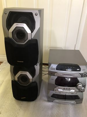 Panasonic stereo with two speakers system for Sale in Laguna Niguel, CA