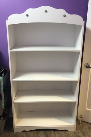 Tiara 4 Shelf Bookcase, White for Sale in Seattle, WA