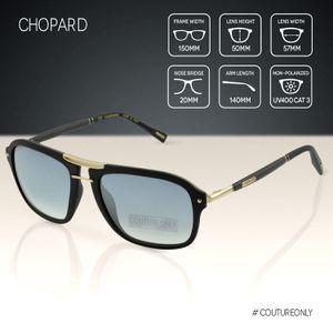 Chopard SCH-C99-300X Black & Gold Frame Carbon Fiber Temples Navigator Silver Gradient Mirror Sunglasses for Sale in Miami Beach, FL