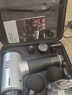 Professional Massage Gun, Handheld Massager Gun with 20 Speeds, Quiet Deep Tissue 6 Heads New. for Sale in Aurora,  CO
