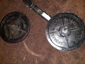$40 45lb weights for Sale in San Bernardino, CA