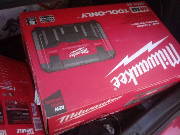 Brand new Milwaukee tools on the brand new Dyson vacuum