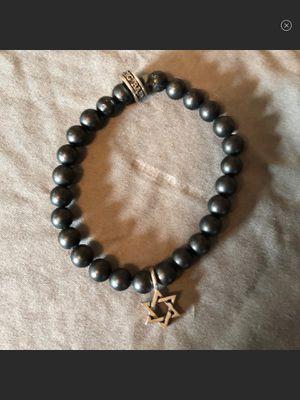 KING BABY Star of David black onyx beaded bracelet for Sale in West Bloomfield Township, MI