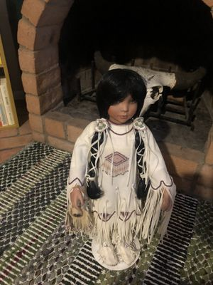 Native American doll statue decor collectible boho for Sale in Phoenix, AZ