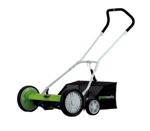 Greenworks 18-Inch Reel Lawn Mower with Grass Catcher 25062 for Sale in Austin, TX