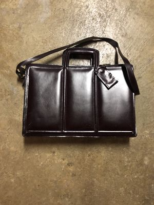 Authentic Leather Brown Brief Case for Sale in Burnt Chimney, VA