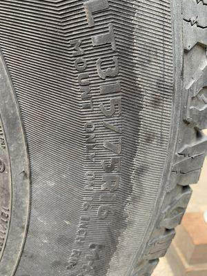 LT315/75-16 All Terrain Tires $80 for Sale in Galt, CA