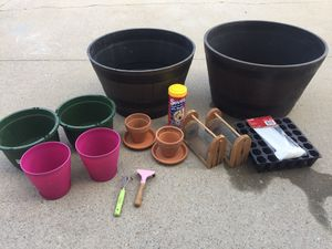 Gardening equipment, flower pots for Sale in Suffolk, VA