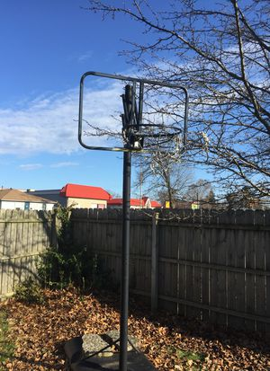 Free huffy basketball hoop. 9ft missing backboard for Sale in Battle Creek, MI