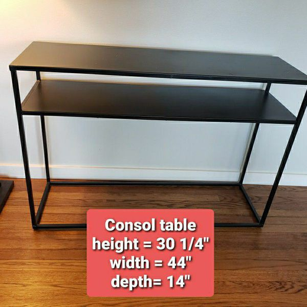 Sleek Black Console Table