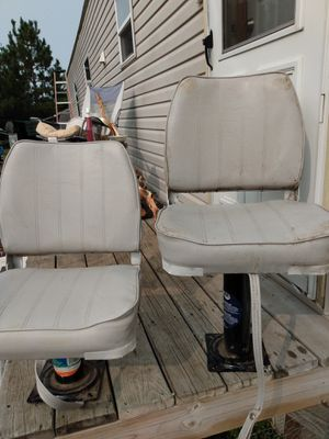 Boat seats great deal don't miss out get them now while u still can for Sale in Perham, MN