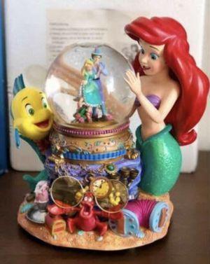Rare Disney Store Japan Little mermaid musical Snow / water globe for Sale in Rockwall, TX