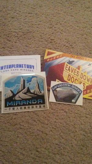 Firefly lot of 4: Miranda Interplanetary Flash Card, Miranda sticker, Eavesdown Docks postcard, Eavesdown Docks sticker for Sale in Westerville, OH