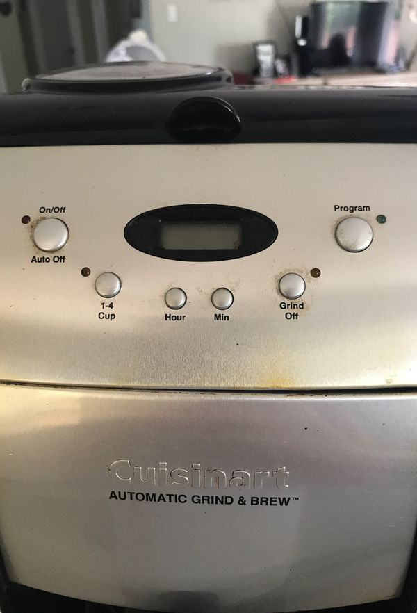 Cuisinart automatic grind and brew coffee maker