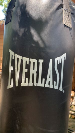 Everlast Ta:40 with stand (which must be anchored). 40 pound punching bag heavy bag speed bag boxing bag for Sale in Fort Worth, TX