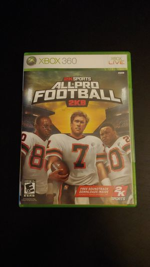 XBOX 360 All Pro Sports 2K8 Microsoft Game Complete Working for Sale in Tacoma, WA