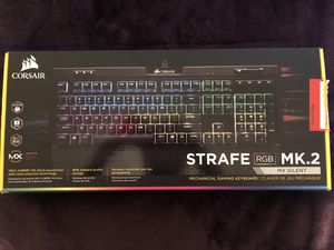 Corsair STRAFE RGB MK.2 Keyboard (Cherry MX Silent Switches) for Sale in Metairie, LA