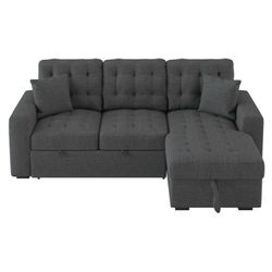 New sectional sofa sleeper with storage tax included delivery available for Sale in Hayward,  CA