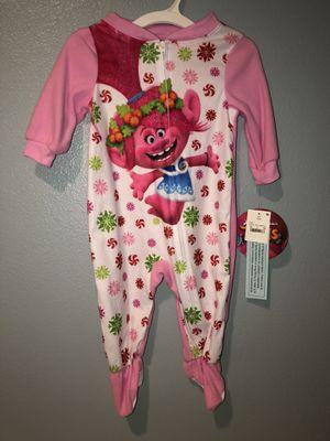 New Trolls Zip Fleece Pajamas 12 Months for Sale in San Jacinto, CA