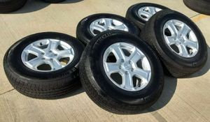 """17"""" Jeep Wrangler set of 5 new wheels and tires for Sale in Solana Beach, CA"""