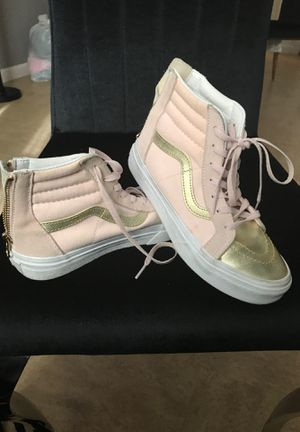 Pink and gold size 2.5 vans for Sale in The Bronx, NY